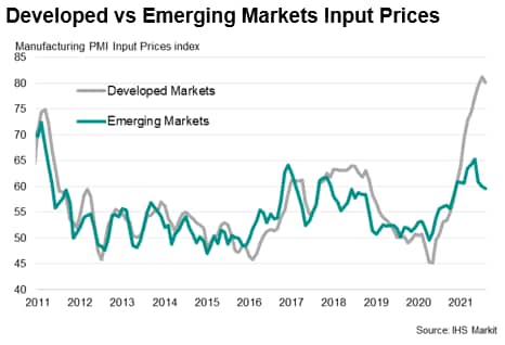 Developed vs Emerging Markets Input Prices