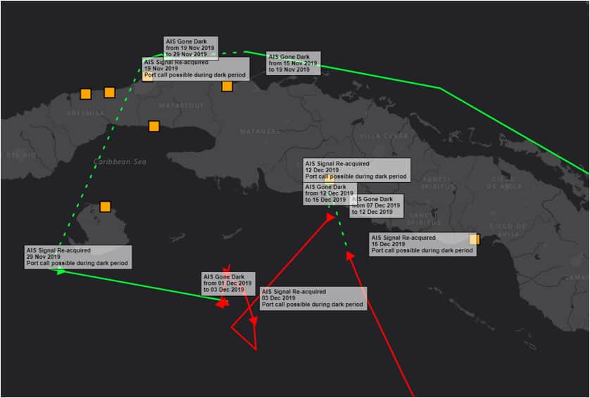 Example of Ship Tracking
