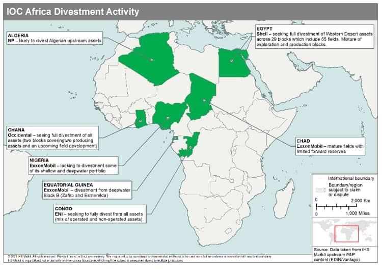IOC Africa divestment activity