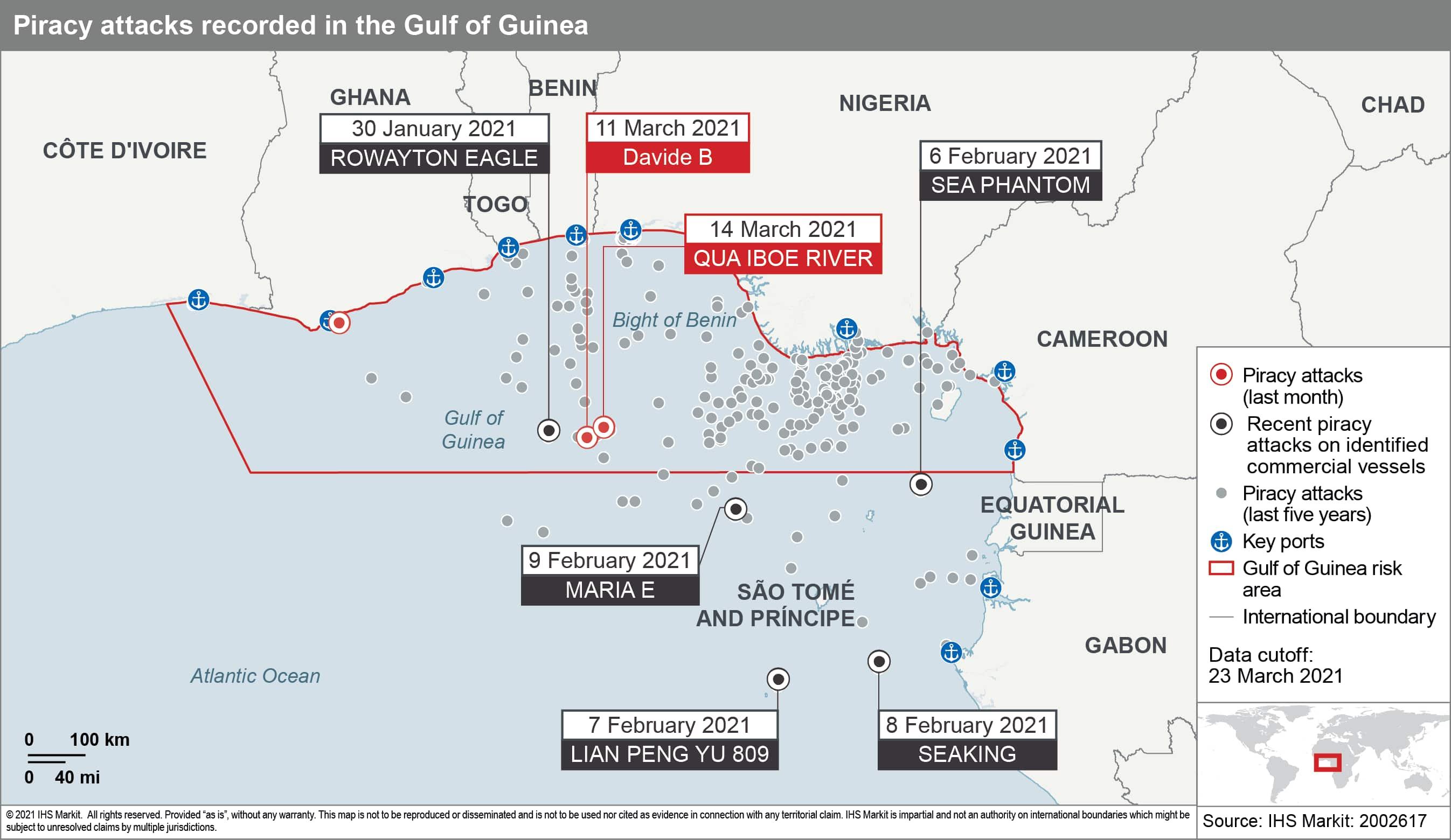 Piracy attacks Gulf of Guinea