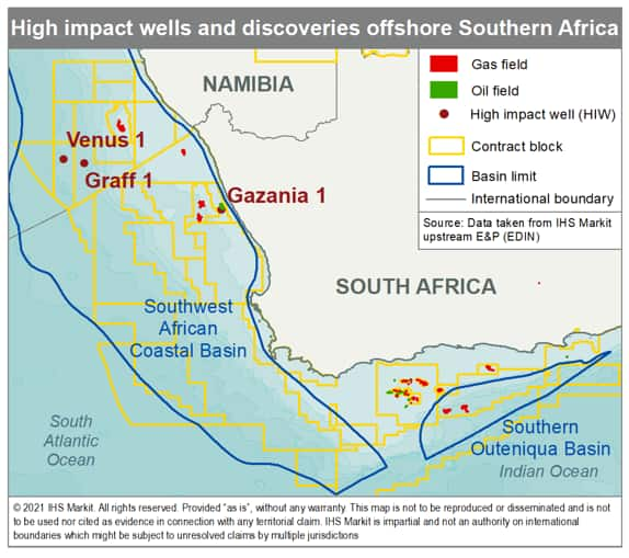 high impact wells offshore Southern Africa