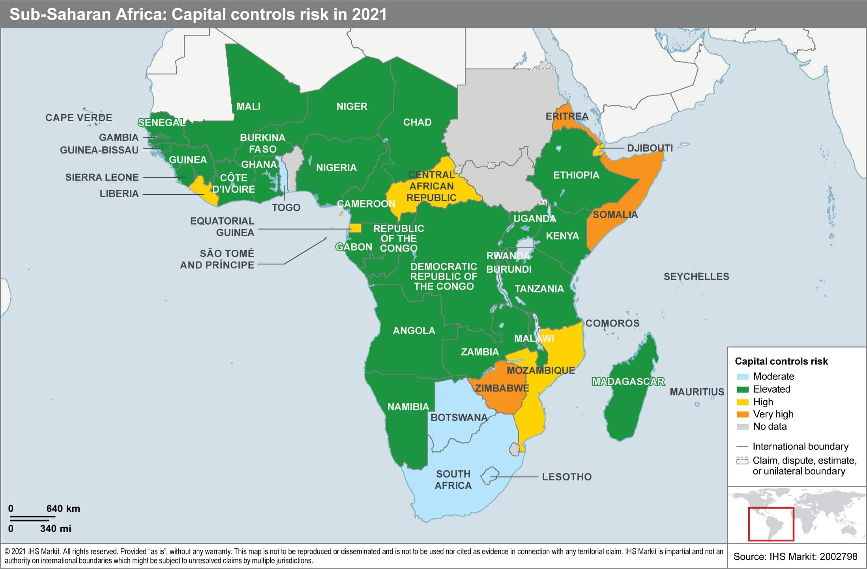 Sub saharan africa capital controls risk in 2021