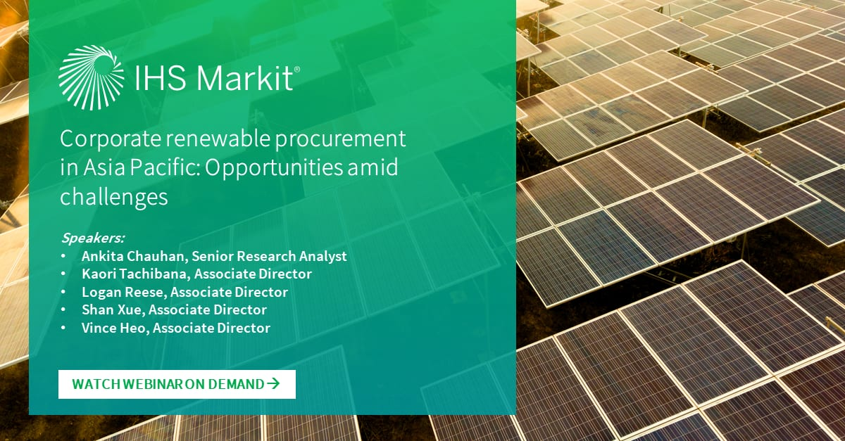 Corporate renewable procurement in Asia Pacific: Opportunities amid challenges
