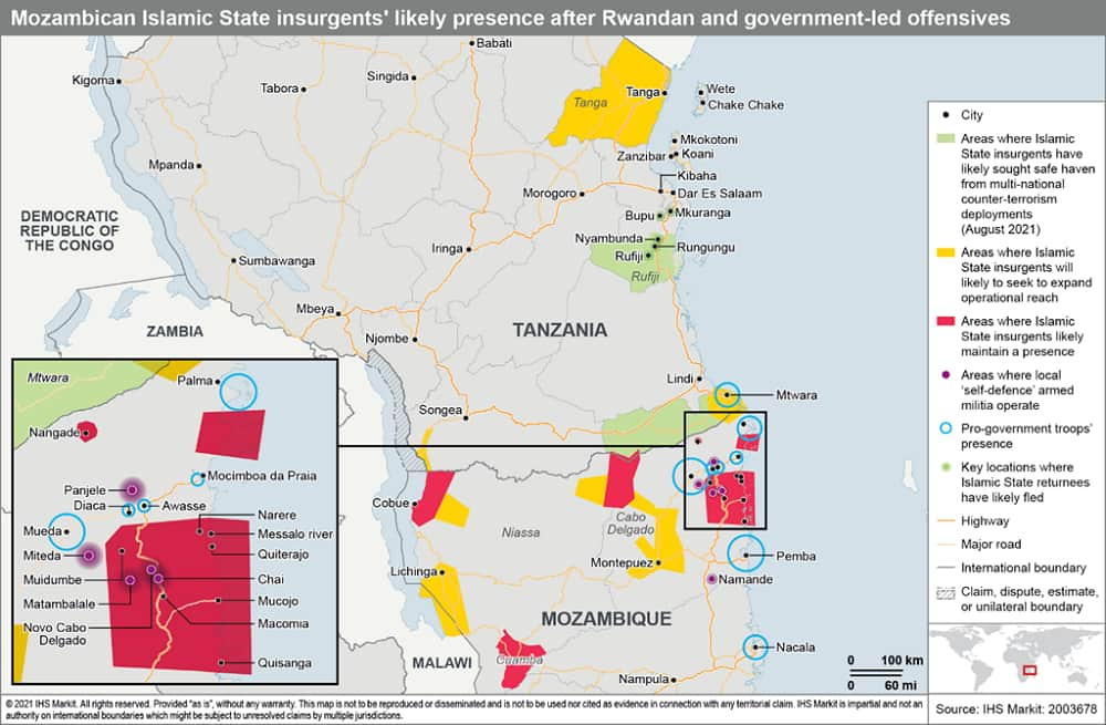 Mozambican islamic state insurgents