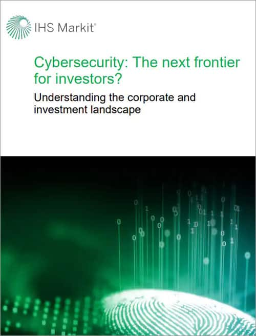 Cybersecurity the next frontier for investors whitepaper