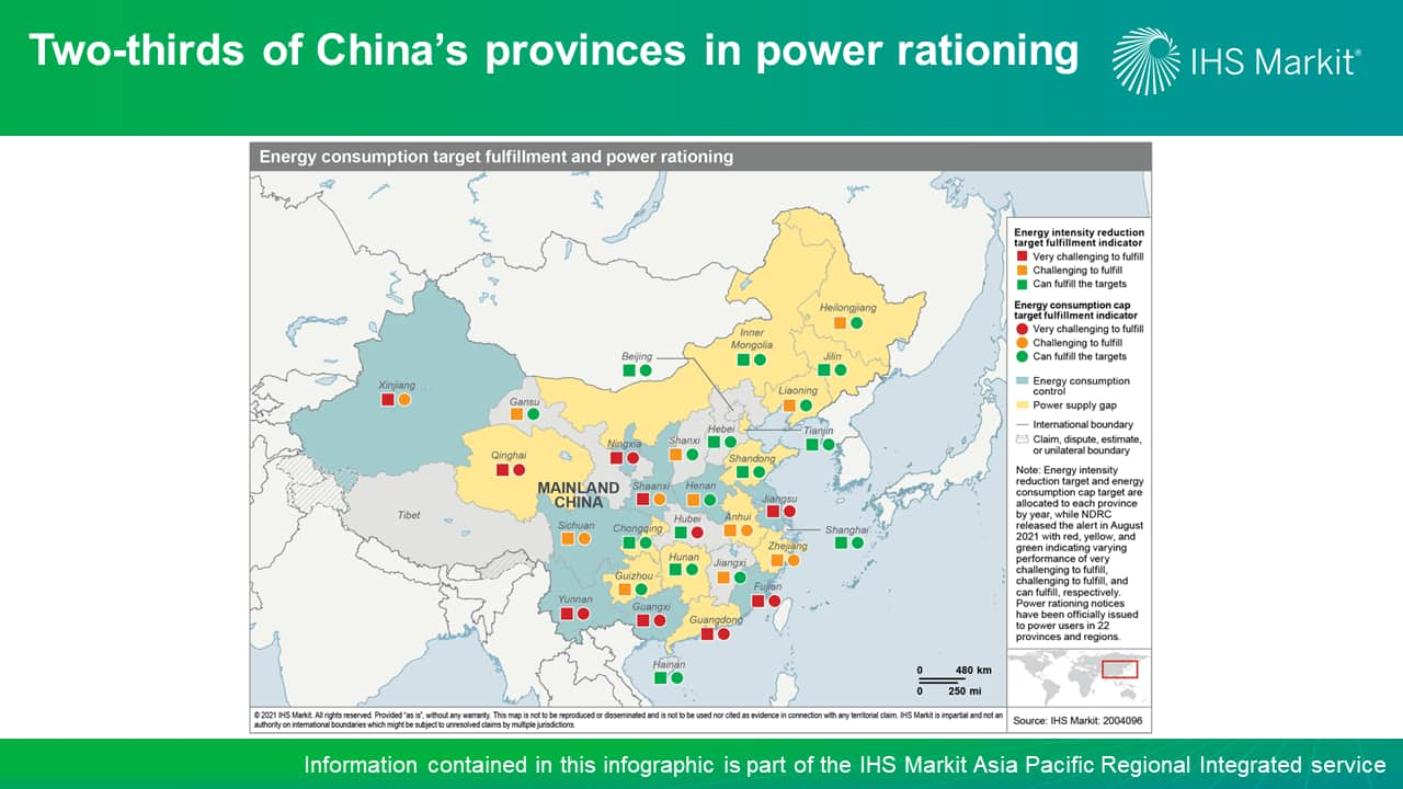 Two-thirds of China's provinces in power rationing